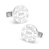 Men's Cufflinks- Sterling Silver Poker Chips