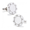 Men's Cufflinks- Stainless Steel Engravable Bolted Design