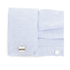 Men's Cufflinks- Divided Two-Tone (Gold Plated and Rhodium Plated) Rectangles