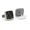 Men's Cufflinks- Sterling Silver Classic with Scaled Picasso Stone