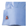 Men's Cufflinks- Orange Enamel Ribbon Leukemia Awareness (100% Proceeds Donated)