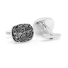 Men's Cufflinks- Silver Plated Clouds-Design Filigree