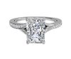 Cubic Zirconia Engagement Ring- The ________ Naming Rights 1336 (0.97 TCW Shared Prong Radiant Cut Bypass Ring)