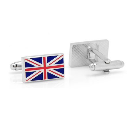 "Men's Cufflinks- British ""Union Jack"" Flag"
