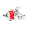 "Men's Cufflinks- ""Keep Calm and Carry On"" Rectangles"