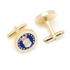 Men's Cufflinks- Armed Forces Gold Plated with Enamel (Air Force)