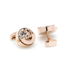 Men's Cufflinks- Rose Gold Plated Kinetic Watch Movement Design