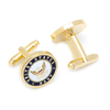 Men's Cufflinks- Armed Forces Gold Plated with Enamel (Navy)