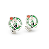 Men's Cufflinks- Palladium Edition Boston Celtics with Enamel Accents (Officially Licensed)