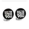 "Men's Cufflinks- ""May the Force Be With You"" (Licensed Star Wars ®)"