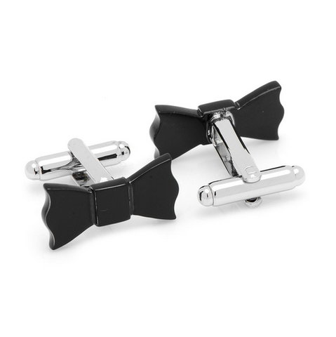 Men's Cufflinks- Black Bow Ties