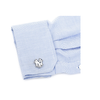 Men's Cufflinks- Palladium Edition New York Yankees with Enamel Accents (Officially Licensed)