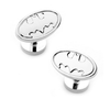 Men's Cufflinks- DC Comics Licensed Silver Plated Batman Logo