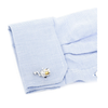 Men's Cufflinks- Two-tone Fishing Reels