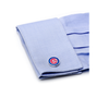 Men's Cufflinks- Palladium Edition Chicago Cubs with Enamel Accents (Officially Licensed)