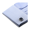 Men's Cufflinks- Sterling Silver Classic Scaled Lapis Inlaid