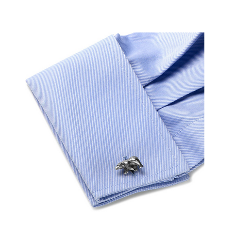 Men's Cufflinks- Sterling Silver Bears