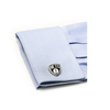 Men's Cufflinks- Palladium Edition Brooklyn Nets with Enamel Accents (Officially Licensed)