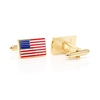 Men's Cufflinks- Gold Plated American Flag