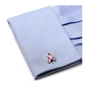 Men's Cufflinks- Pink Ribbon Breast Cancer Awareness (100% Proceeds Donated)