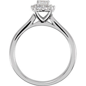 Cubic Zirconia Engagement Ring- The Bernadette Leigh