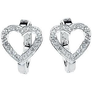 Cubic Zirconia Earrings- 0.20 Carat Heart Inspired Hoop Earring Set