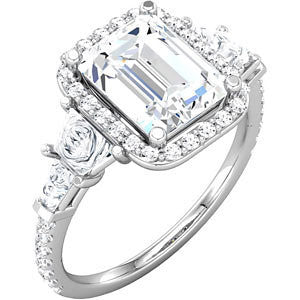 Cubic Zirconia Engagement Ring- The Asia