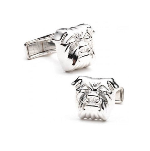 Men's Cufflinks- Sterling Silver Bulldog Design