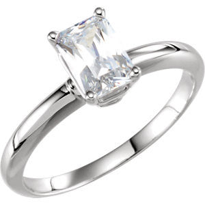 Cubic Zirconia Engagement Ring- The Ariel