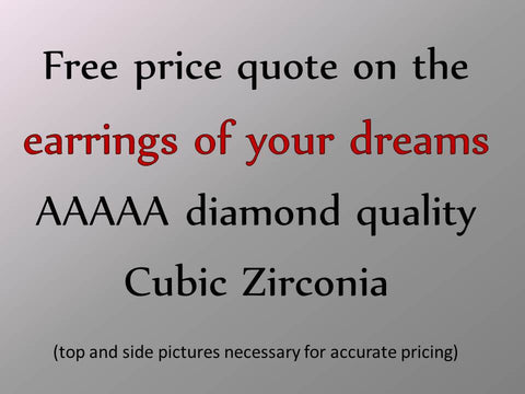 "Custom-made ""Design Your Own"" and Replica Cubic Zirconia Earrings"