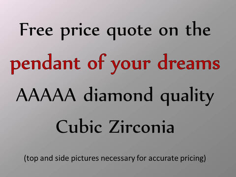 "Custom-made ""Design Your Own"" and Replica Cubic Zirconia Pendants"