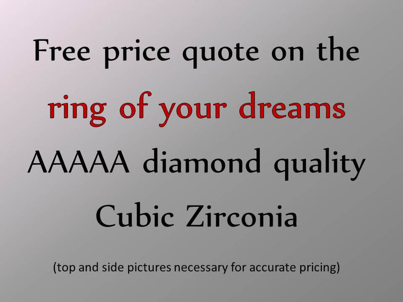 "Custom-made ""Design Your Own"" and Replica Cubic Zirconia Rings and Engagement Rings"