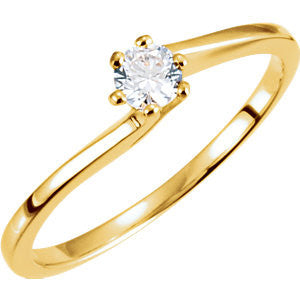 Cubic Zirconia Engagement Ring- The Aurora (Round or Asscher Cut Bypass Solitaire)