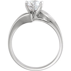 Cubic Zirconia Engagement Ring- The Electra (Customizable Bypass Solitaire)
