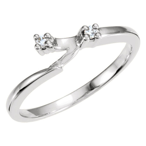 CZ Wedding Set, Style 040 feat The Julie Engagement Ring (Customizable Modern Style Solitaire with Bypass Band)