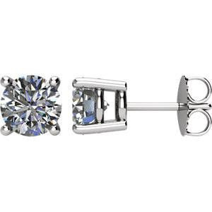 9c052372f Cubic Zirconia Earrings- Customizable 4 Prong Round CZ Stud Earring Set  With Push Back