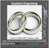 Our Custom Engraving for Rings, Wedding Bands, Cufflinks, Bracelets and More