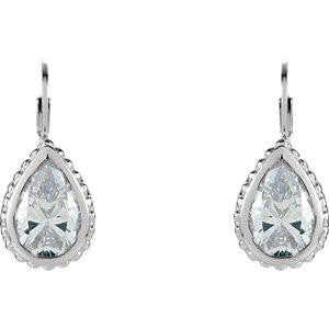 Cubic Zirconia Earrings- Sterling Silver Cubic Zirconia