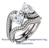 Cubic Zirconia Engagement Ring- The Aylen (Customizable Enhanced 2-stone Heart Cut Artisan Design with 3-sided Filigree and Pavé Band)