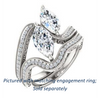 Cubic Zirconia Engagement Ring- The Aylen (Customizable Enhanced 2-stone Marquise Cut Artisan Design with 3-sided Filigree and Pavé Band)