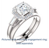 Cubic Zirconia Engagement Ring- The Azariah (Customizable Cathedral Asscher Cut Design with Halo and Straight Baguettes)