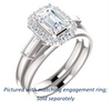 Cubic Zirconia Engagement Ring- The Azariah (Customizable Cathedral Emerald Cut Design with Halo and Straight Baguettes)