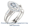 Cubic Zirconia Engagement Ring- The Azariah (Customizable Cathedral Marquise Cut Design with Halo and Straight Baguettes)