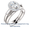 Cubic Zirconia Engagement Ring- The Azariah (Customizable Cathedral Oval Cut Design with Halo and Straight Baguettes)