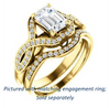 Cubic Zirconia Engagement Ring- The Bannely (Customizable Emerald Cut Semi-Halo Style with Split-Pavé Band and Peekaboo Accents)