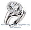 Cubic Zirconia Engagement Ring- The Esperanza (Customizable Cathedral-set Oval Cut Style with Large Cluster Halo Accents and Tapered Band)