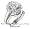 Cubic Zirconia Engagement Ring- The Esperanza (Customizable Cathedral-set Round Cut Style with Large Cluster Halo Accents and Tapered Band)