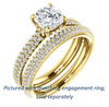 Cubic Zirconia Engagement Ring- The Fatima (Customizable Cushion Cut Center with Triple Pavé Band)