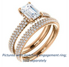 Cubic Zirconia Engagement Ring- The Fatima (Customizable Emerald Cut Center with Triple Pavé Band)