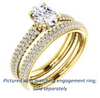 Cubic Zirconia Engagement Ring- The Fatima (Customizable Oval Cut Center with Triple Pavé Band)